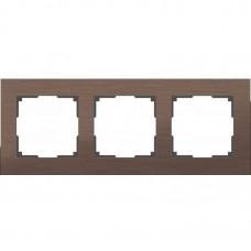 Рамка трехместная Werkel Aluminium WL11-Frame-03 коричневый алюминий