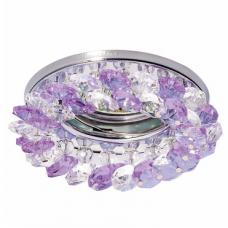 Светильник точечный встраиваемый Italmac Venecia 51 05 74 MR16 хром с прозрачно-пурпурным стеклом 50 Вт