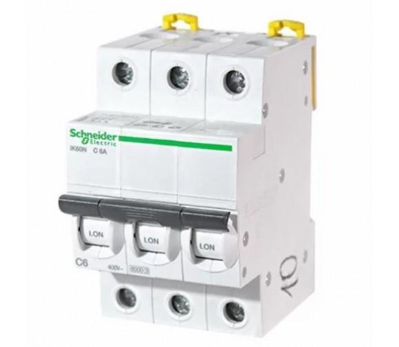 Автоматический выключатель Schneider Electric Acti9 iK60 3п C 6А 6кА