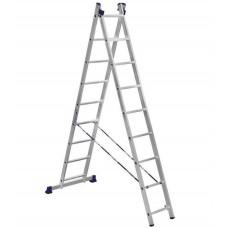 Лестница двухсекционная Алюмет  5209 2х9