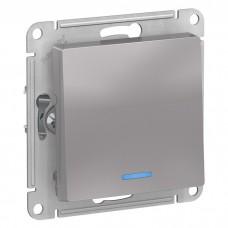 Механизм выключателя Schneider Electric AtlasDesign ATN000313 одноклавишный с индикатором алюминий