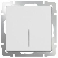 Механизм выключателя Werkel WL01-SW-1G-LED одноклавишный с индикатором белый