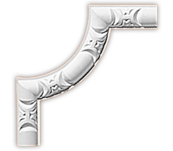Угол декоративный для молдинга Decomaster 98013-2 144х144х10 мм