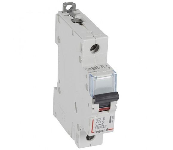 Автоматический выключатель Legrand DX3-E 407266 1P C 32A 6кА