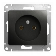 Механизм розетки Schneider Electric Glossa GSL000741 одноместный без заземления антрацит