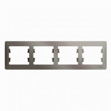 Рамка четырехместная Schneider Electric Glossa GSL001204 платина