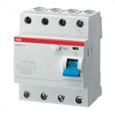 Выключатель автоматический дифференциального тока ABB F204 63A 300mA AC