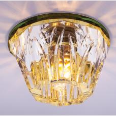Светильник точечный встраиваемый Italmac Bohemia 220 13 73 G9 золото 40 Вт