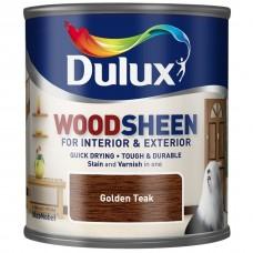 Лак-морилка на водной основе Dulux Woodsheen по дереву полуматовый золотой тик 0,25 л
