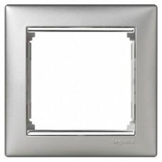 Рамка одноместная Legrand Valena 770351 алюминий/серебряный штрих