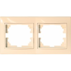 Рамка для розеток/выключателей 2 гнезда С/У. бежевый