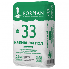 Пол наливной самовыравнивающийся Forman 33 финишный быстротвердеющий 25 кг