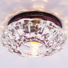 Светильник точечный встраиваемый Italmac Bohemia 220 4 74 G9 пурпур 40 Вт