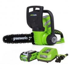 Пила цепная аккумуляторная Greenworks G40CS30K2