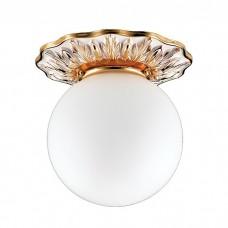 Светильник встраиваемый Novotech Sphere 369976 белый/золото/стекло матовое IP44 G9 40W 220V