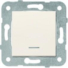 Механизм выключателя Panasonic Karre Plus WKTT00022BG-RES одноклавишный с подсветкой кремовый