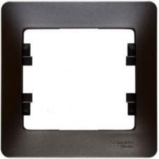 Рамка одноместная Schneider Electric Glossa GSL001301 графит