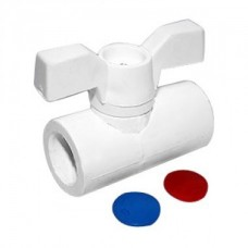 Кран шаровой FDplast 8565 PPR D20 мм белый