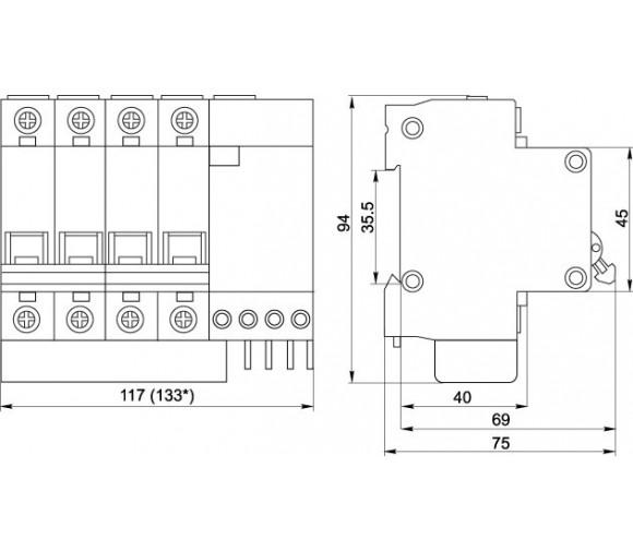 Автоматический выключатель дифференциального тока IEK АД14 4Р 32А 100мА