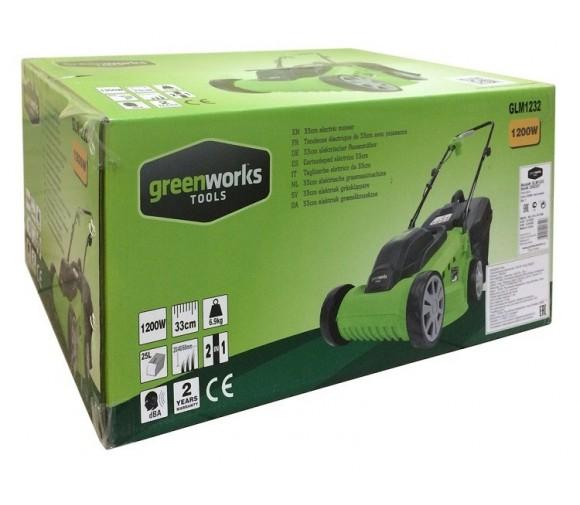 Газонокосилка электрическая Greenworks GLM1232