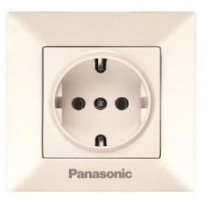 Розетка Panasonic Arkedia WMTC02022BG-RES одноместная кремовый