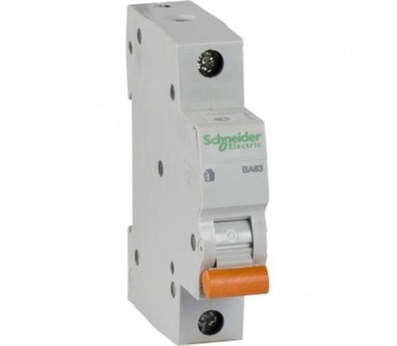 Автоматический выключатель Schneider Electric Домовой ВА63 1П C 20A 4,5кА
