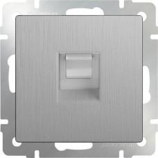 Механизм розетки компьютерной Werkel Ethernet WL09-RJ-45 серебряный рифленый