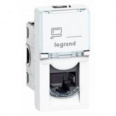 Legrand Mosaic New RJ45 076551 1 модуль 5E UTP одноместная белая