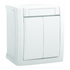 Выключатель Panasonic Pacific WPTC40092WH-RES двухклавишный белый