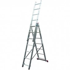 Лестница трехсекционная алюминиевая Krause Corda 010378 3х7