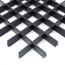Потолок грильято Cesal CL Эконом черный 100х100х37 мм
