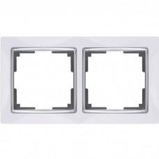 Рамка двухместная Werkel Snabb WL03-Frame-02-white белая