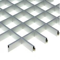 Потолок грильято Cesal Классический Стандарт металлик 50х50х40 мм
