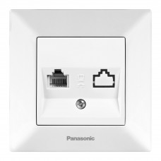 Розетка телефонная Panasonic Arkedia WMTC00012WH-RES RJ11 двухместная белая