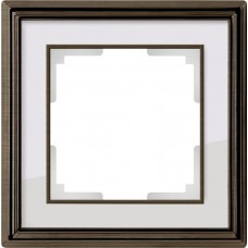 Рамка одноместная Werkel Palacio WL17-Frame-01 бронза/белый