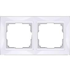 Рамка двухместная Werkel Snabb Basic WL03-Frame-02 белая