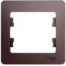 Рамка одноместная Schneider Electric Glossa GSL001201 платина
