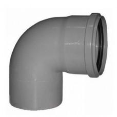 Отвод канализационный ПП Политэк Ду 50 мм 90 градусов с кольцом