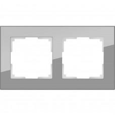 Рамка двухместная Werkel Favorit WL01-Frame-02 серая