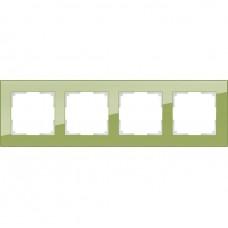 Рамка четырехместная Werkel Favorit WL01-Frame-04 фисташковая