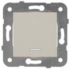 Механизм выключателя Panasonic Karre Plus WKTT00022BR-RES одноклавишный с подсветкой бронза