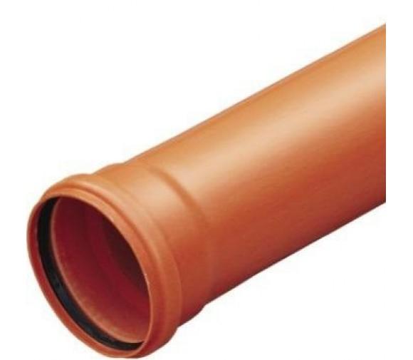 Труба наружная ПВХ Политэк Ду 110х3,2х1000 мм кирпичный цвет