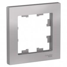 Рамка одноместная Schneider Electric AtlasDesign ATN000301 алюминий