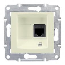 Механизм компьютерной розетки Schneider Electric Sedna SDN4300147 RJ45 одноместный бежевый