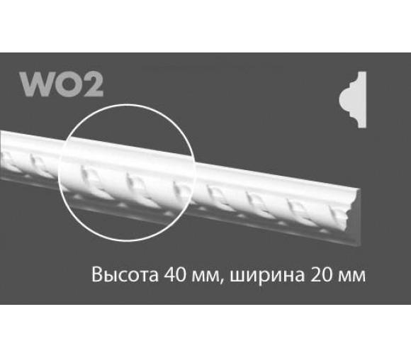 Молдинг из дюрополимера NMC HDPS Wallstyl WO-2 2 м