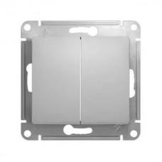 Выключатель Schneider Electric Glossa GSL000351 двухклавишный алюминий