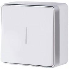 Выключатель накладной Werkel Gallant WL15-01-04 одноклавишный с индикатором белый