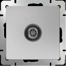 Механизм телевизионной розетки Werkel WL06-TV-2W одноместный проходной серебряный