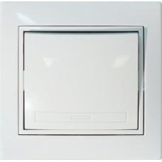 Выключатель одноклавишный С/У белый