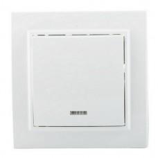 Выключатель EKF Минск ERV10-121-10 одноклавишный с индикатором белый